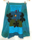 *SALE* GRINGO fairtrade HIPPY boho FESTIVAL teal EMBROIDERED skirt 8-10-12 BNWOT