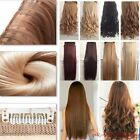 UK seller Clip in Hair Extensions Half Full Head One Piece Synthetic brown black