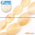 Oval Twist Gemstone Yellow Jade DIY Jewelry Making Loose Beads Strand 15""