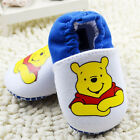 Baby Boy Winnie the Pooh shoes Sports Soft soles Crib Shoes Size 0-18 Months