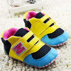 Baby Boy Girls Black tennis shoes Sports Soft soles Crib Shoes Size 0-18 Months