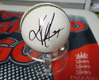 Kevin Pietersen (England) signed White   Cricket Ball + COA & photo proof