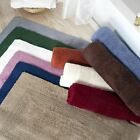 Lavish Home 100% Cotton Plush Bathroom Reversible Long Bath Mat 24 x 60 In.