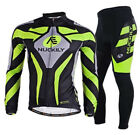 Hot Men Long Sleeve Bicycle Wear Gel 3D Padded Pants Cycling Jersey Clothing