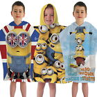 Despicable Me Minions Poncho Hooded Towel 3 Designs King Bob Minion Invasion