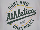 Oakland A's Athletics Short Sleeved T Shirt Chevrolet Promotion L XL White NEW