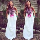 Hot Sexy Women Summer Long Maxi BOHO Evening Party Dress Beach Dresses Sundress