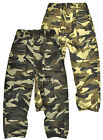 Boys Army Cargo Trousers Kids Camouflage Combat Print Pants New Age 3 - 12 Years
