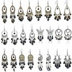 New Retro Silver Bohemian Beadwork Chandelier Dangle Drop Earrings Women Jewelry