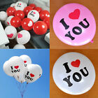 10pcs ''I LOVE YOU'' Balloons Wedding Marriages Party Valentine's Day White Pink