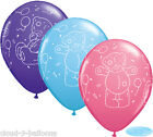 "Tatty Teddy Me to You 11"" Helium Quality Latex Party Balloons Blue Purple & Rose"