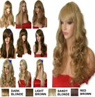 BLONDE Mix Wig Natural Long Curly Straight Wavy Ladies Women Fashion WIG