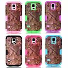Forest Branch Heavy Hybrid Rubber Front Back Case Cover for Samsung Galaxy S5