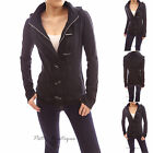 Smart Black Hoodie Zip Toggle Closure Spring Jacket