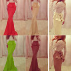 LA Fashion Women Long Maxi Prom Dress Long Sleeve High Waist Evening Party  CMA
