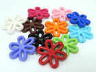 28mm 10pcs   20pcs ASSORTED COLORS ACRYLIC FLOWER CHARMS CC3066