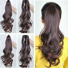 Long Big Wavy Curly Straight Claw Ponytail Clip in Ponytail Piece Hair Extension