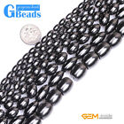 """Black Magnetic Hematite Olivary Rice Beads For Jewelry Making Free Shipping 15"""""""