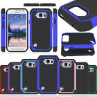 Rugged Hybrid Armor Hard Case Cover For AT&T Samsung Galaxy S6 Active G890