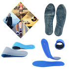 A Pair Safe Comfort Orthotic Support Massaging Silicone Gel Sports Shoe Insole