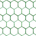 25m Long 0.9 & 1.2m High Green Chicken Wire Mesh Fencing Galvanised Netting PVC