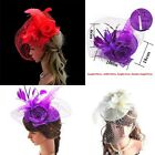 Elegant Lady Girl Large Headband Sinamay Fascinator Hat Party Church Wedding
