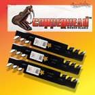 "Set of 3 Copperhead Mulching Blades For AYP/Sears 46"" Cut Mower & Many Others"