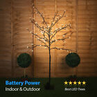 Pre Lit 3ft / 5ft LED Battery Outdoor Cherry Blossom Tree Warm White Lights