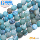 Natural Geode Druzy Agate Quartz Gemstone Round Beads For Jewelry Making 15""