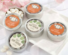 24 Personalized Born To Be Wild Round Silver Candy Tins Baby Shower Favors