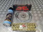 HYOSUNG GT 125 R EFI  JT GOLD UPRATED CHAIN AND SPROCKET S KIT + LUBE QUALITY