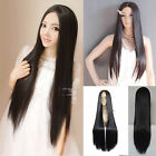 New Fashion Costume Full Wigs Long Straight Hair 28' Weave Sclap Parted Bang Wig