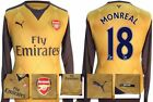 *15 / 16 - PUMA ; ARSENAL AWAY SHIRT LS / MONREAL 18 = SIZE*