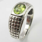 .925 Pure Silver CUT PERIDOT CAST EXTRA ORDINARY Ring Any Size 5 to 10 HANDWORK