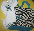 PERSONALIZED Zebra Baby Boy Girl Diaper TOTE BAG CREEPER T Shirt & HAT Gift Set