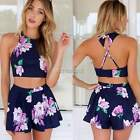Women's Summer Chiffon Boho Casual Playsuit Beach Party Jumpsuit Shorts Dresses
