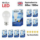 MiniSun LED 6W 10W (60W/100W) BC B22 ES E27 GLS Lamp Light Bulbs Warm Cool White