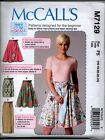 McCall's 7159 Learn to Sew Ladies Easy Reversible Wrap Skirt Sewing Pattern NEW