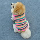 New Arrived Pink Point Lovely Strip Shirt Dog Cat Pet Clothes Apparel Clothes