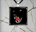BLACK PANTHER WILD FELINE CLOSE UP HEAD PENDANTS NECKLACE  -dfc4Z