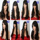 BROWN Long Wavy Straight Full Wig Fashion costume Halloween wigs #2