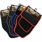 4 PIECE FRONT & REAR COLOURED TRIM CARPET CAR MATS NON SLIP UNIVERSAL FIT FLOOR