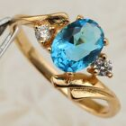Size 5 5.5 6.5 7.5 10 Nice Blue Sky Topaz Jewelry Yellow Gold Filled Ring R2190