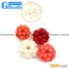 12mm Smooth Coral  Ball Gemstone Beads DIY Jewelry Making Beads 2 Pcs GBeads