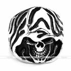 Mens Punk Stainless Steel Deatn Ghost Skull Heavy Biker Band Ring Jewelry Gift