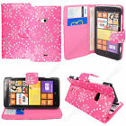 New Flip Wallet Leather Case Cover For Nokia Lumia Phone + Screen Protector