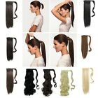 Noble Claw on Warp Around Ponytail Clip In Hair Extensions Straight Curly 7s5