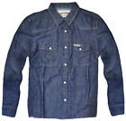 Boys 100% Cotton Dark Denim Shirt New Kids Long Sleeve Smart Top Ages 7-13 Years