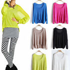 New Women Spring Summer Hollow Batwing Sleeve Pullover Blouses Top Shirt Solid