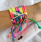 FD2682 Adjustable Rainbow Lucky Bracelet Braided Rope Bracelets Jewelry 1pc